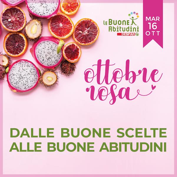"""""""Dalle Buone Scelte alle Buone Abitudini"""": insieme ad A.N.D.O.S. per l'Ottobre Rosa!"""