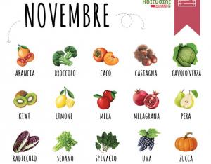 Verdura e Frutta del mese di Novembre