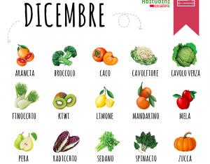 Verdura e frutta del mese di Dicembre