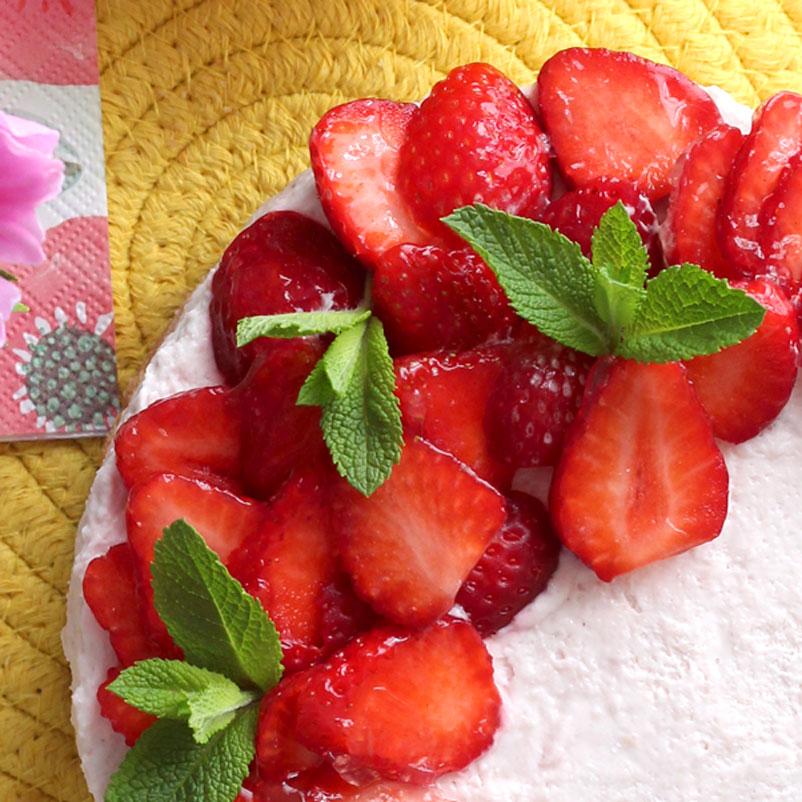 Cheesecake fragole e yogurt