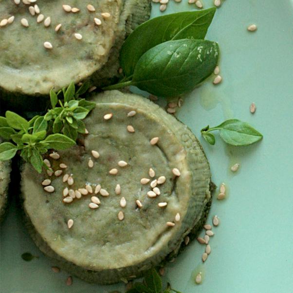 Delicati sformatini spinacini e noci