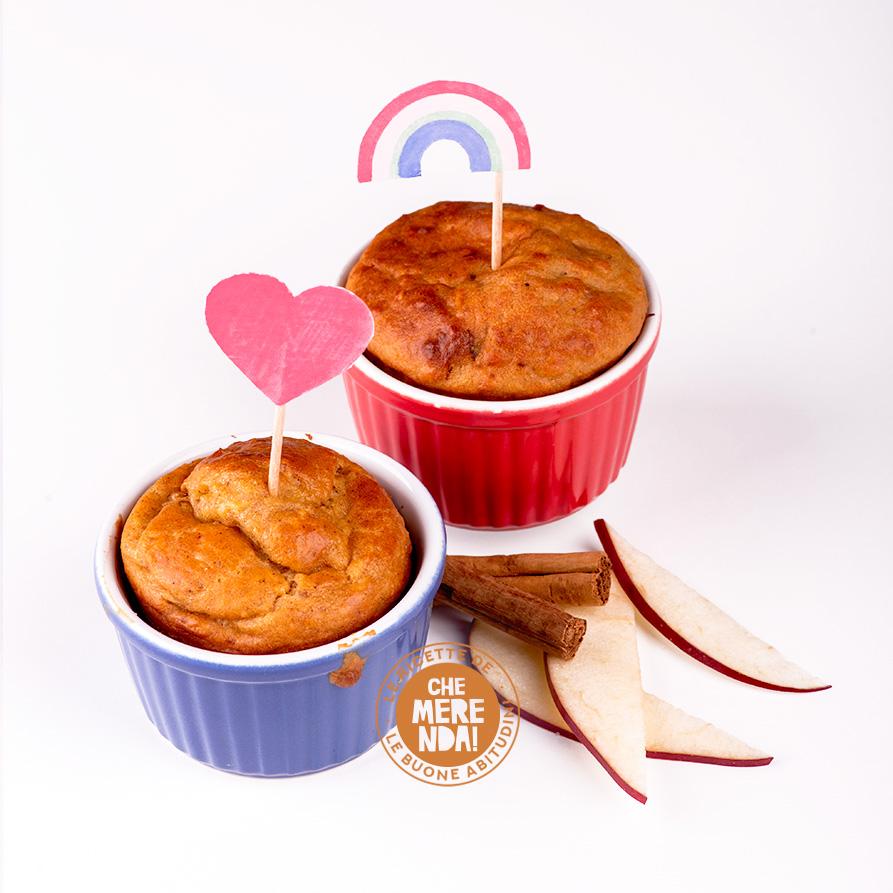 Muffin di ricotta, mele e cannella